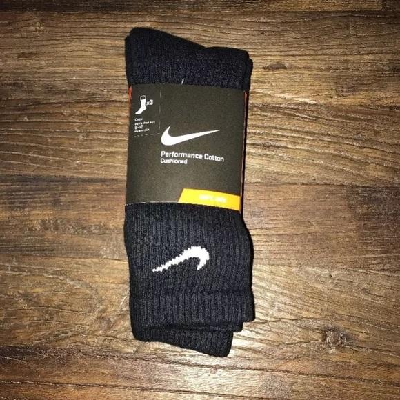 baño liebre eficaz  Nike Underwear & Socks | Nike Performance Cotton Cushioned Crew Sock 3 Pair  | Poshmark